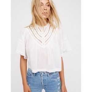 NWT Free People White Lush Life Top